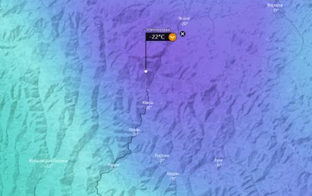 На Закарпатті зафіксовано рекордні морози на Рахівщині -22 градуси