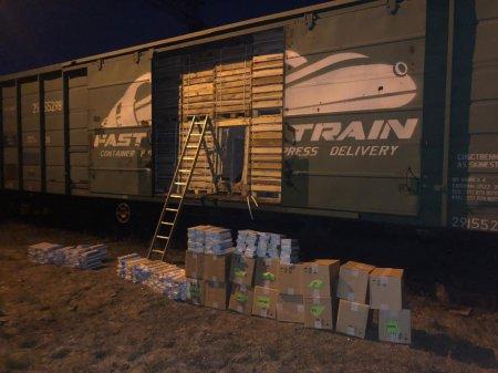 На Закарпатті прикордонники виявили у вантажному поїзді вагон з контрабандними сигаретами