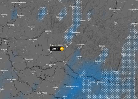 В понеділок на Закарпатті буде падати льодяна крупа