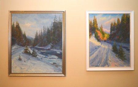 Закарпатська зима на художніх полотнах: в облдержадміністрації відкрили персональну виставку Василя Свалявчика