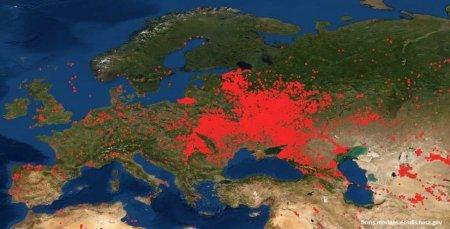 Закарпатська область потрапила на карту  NASA, з червоними відмітками (фото)