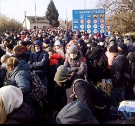 Тисячі закарпатців намагаються потрапити додому через КПП «Чоп» (фото)