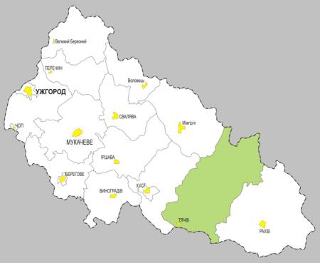 Тячівський АТР з центром у Тячеві передбачено у проєкті утворення адміністративно-територіальних районів субрегіонального рівня на Закарпатті
