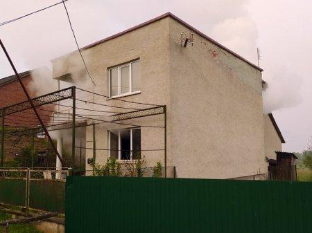 На Тячівщині горів  двоповерховий будинок