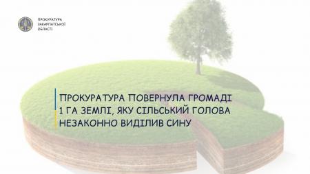 На Берегівщині голова села незаконно виділив своєму сину земельну ділянку