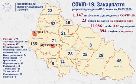 Надання допомоги по запобіганню поширення захворюваності на короновірусну інфекцію COVID-19, станом на 29 травня