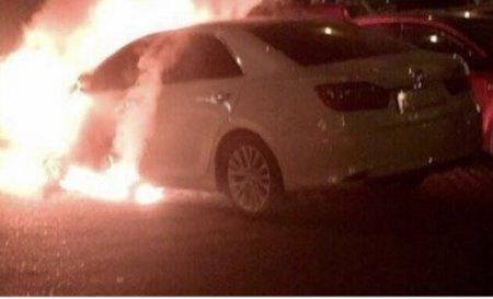 На Воловеччині на трасі загорівся автомобіль