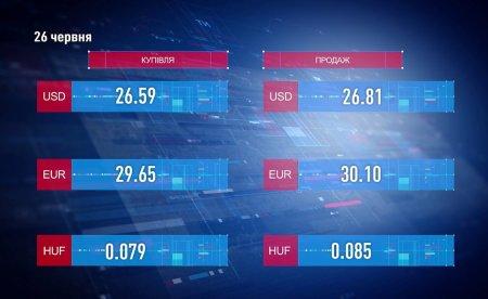 Курс валют на 26 червня (відео)