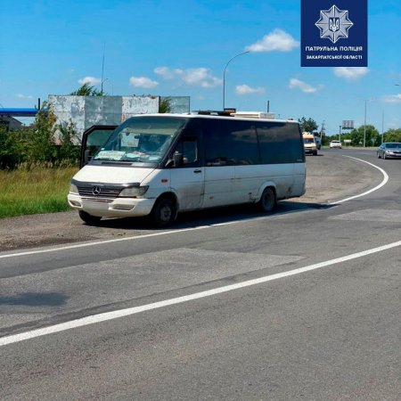 На Закарпатті водій автобуса заплатить штраф 17 тис за стоячого пасажира (ФОТО)