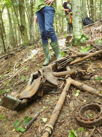 У Карпатах завершили дослідження місця катастрофи німецького літака HE-111