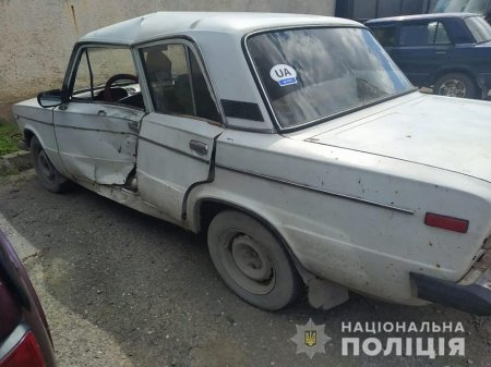 На Виноградівщині поліція розшукала водія, який зник з місця ДТП