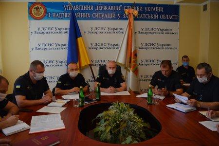 Про свою роботу в липні говорили рятувальники Закарпаття на підсумковій нараді