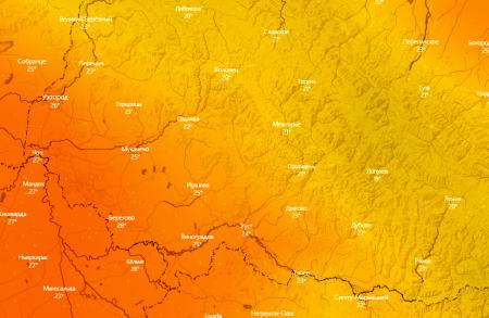 Сьогодні на Закарпатті по літньому тепло та сонячно