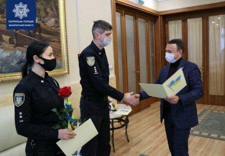 Закарпатським патрульним вручили подяки за віддану службу
